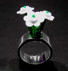 Legoring blomma